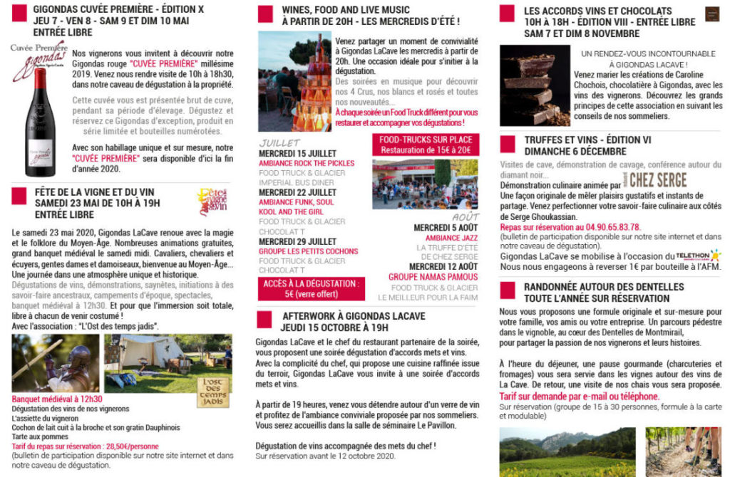 Gigondas - Brochure œnotourisme 2020